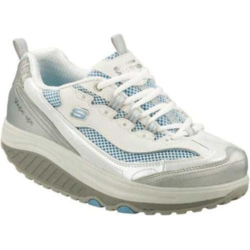 Women's Skechers Shape Ups Jump Start White/Silver/Light Blue