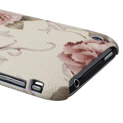White/ Pink Flower Case/ Holder/ Charger for Apple iPhone 3G/ 3GS - Thumbnail 1