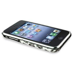 Grey Leopard Case/ Car and Travel Charger for Apple iPhone 3G/ 3GS - Thumbnail 1