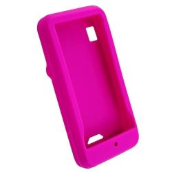 Dark Blue/ Black/ Hot Pink Cases/ Protectors for Motorola Droid A855 - Thumbnail 2