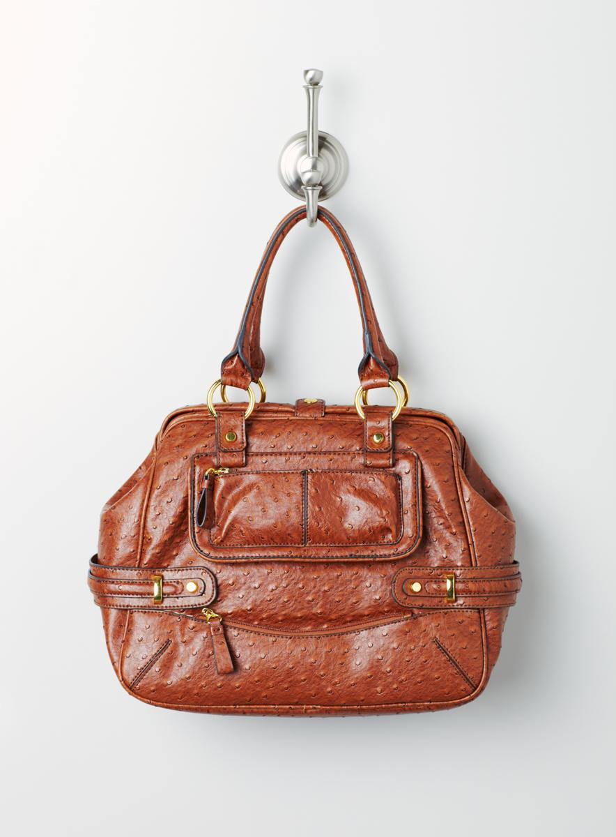 Jessica Simpson Ostrich Honor Roll Frame Satch - Thumbnail 1