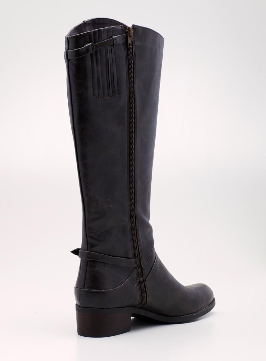 Unisa Low Heel Hi Shaft Riding Boot - Thumbnail 1