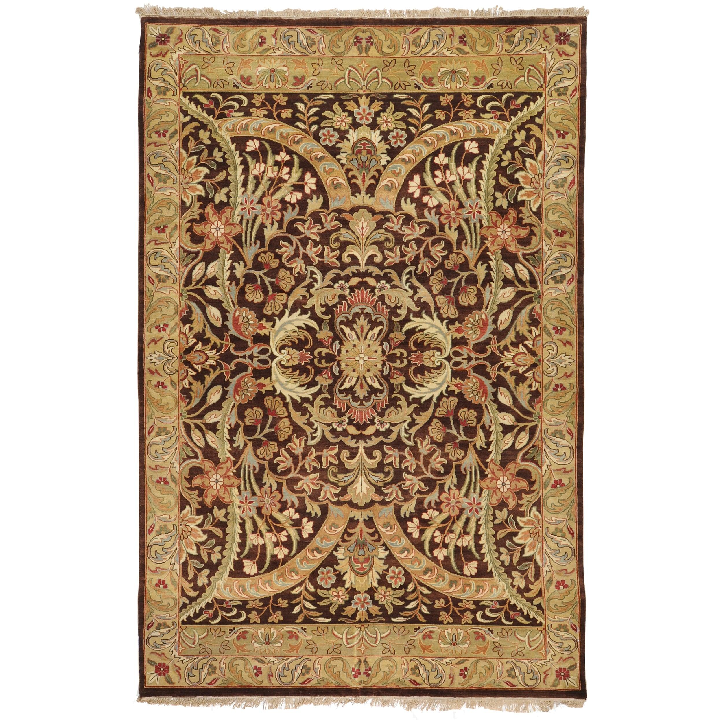 Hand-knotted Taj Mahal Semi-worsted New Zealand Wool Rug (2' x 3')