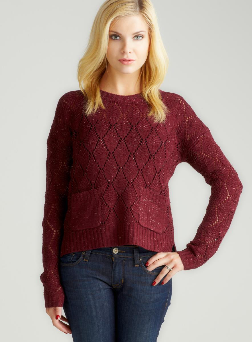 Romeo & Juliet Couture Hi Lo Sweater With Pockets