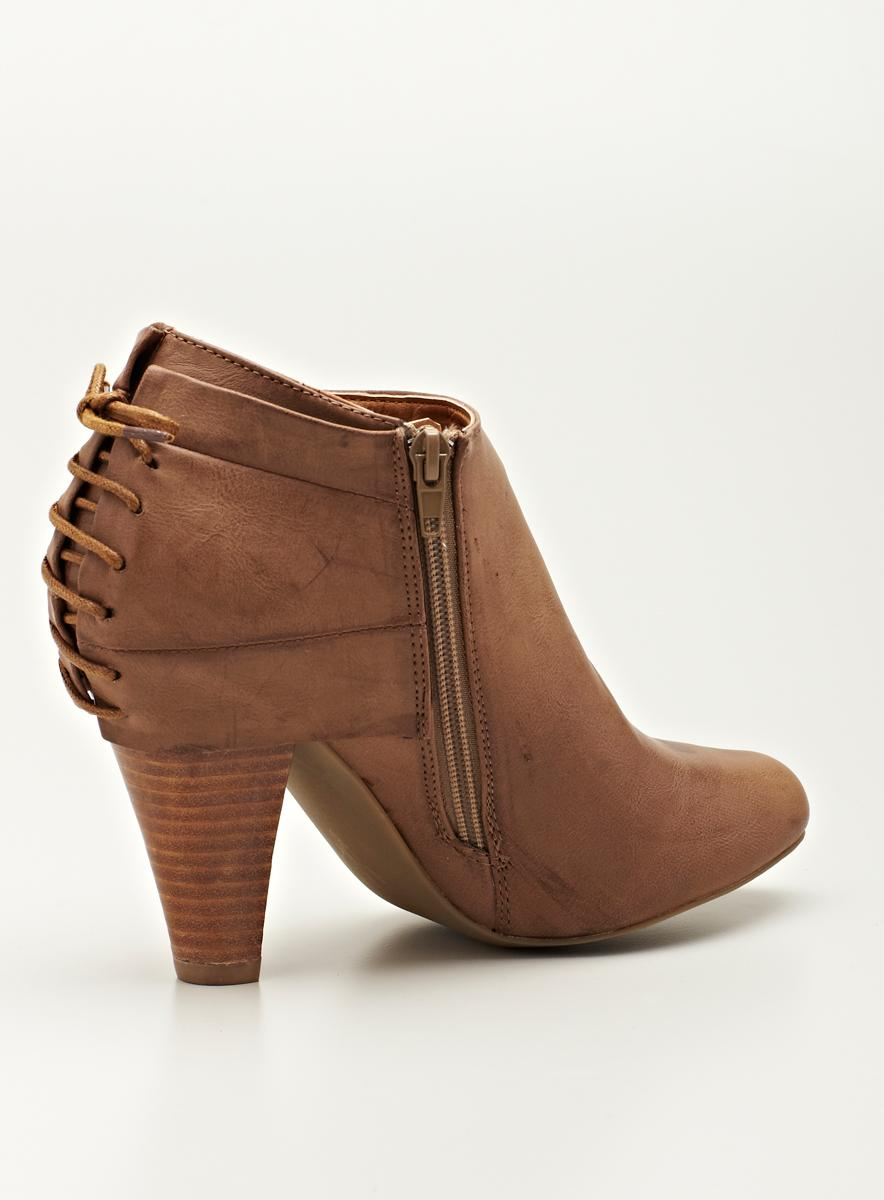 Rebels Hh Ankle Bootiewith Lace Back - Thumbnail 1