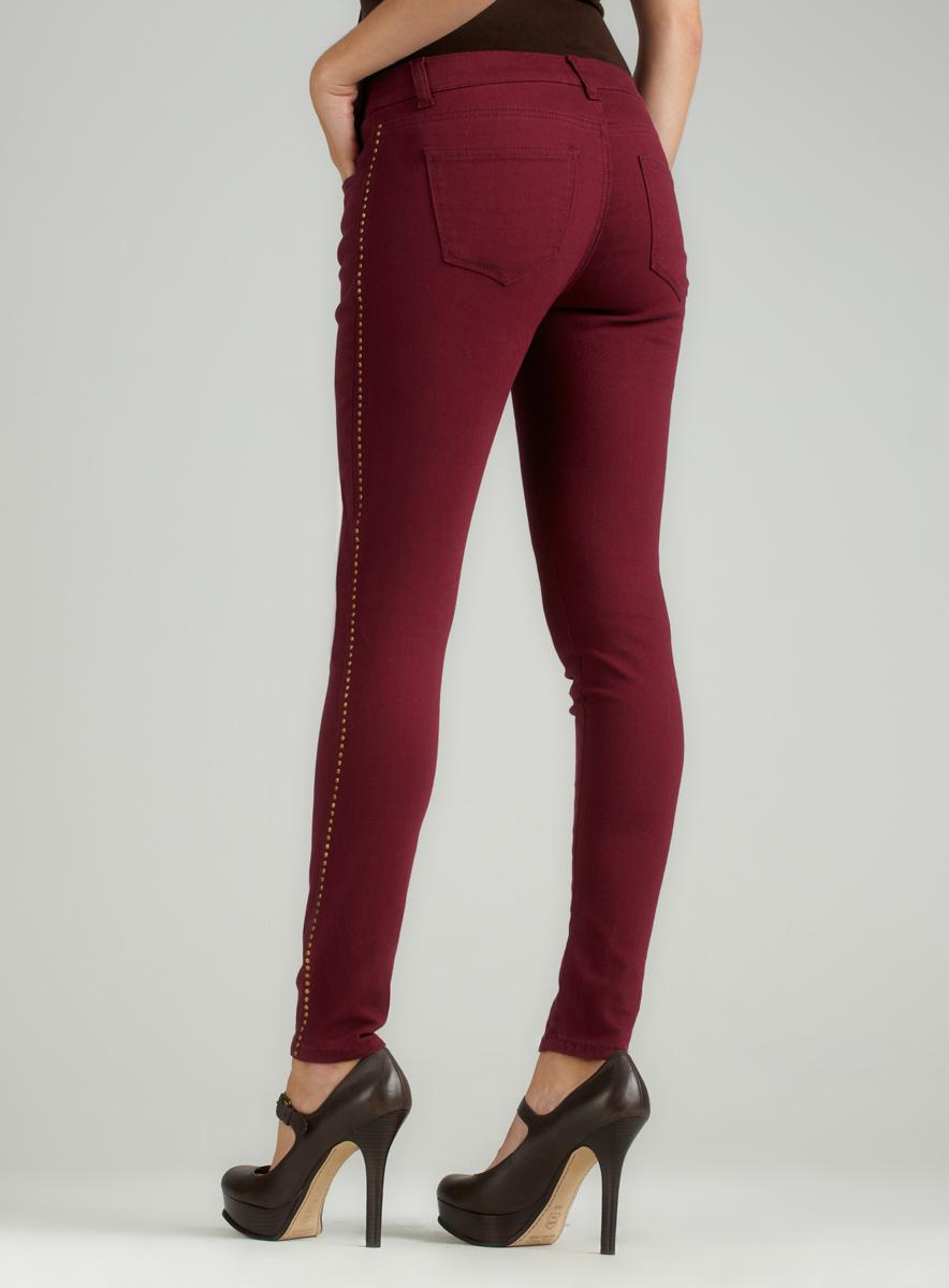 Romeo &amp Juliet Couture Burgundy Skinny Jean - Free Shipping On