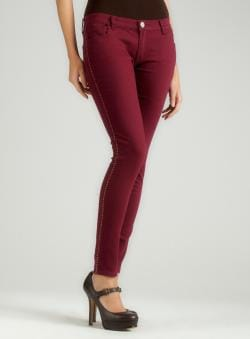 Romeo & Juliet Couture Burgundy Skinny Jean - Free Shipping On ...