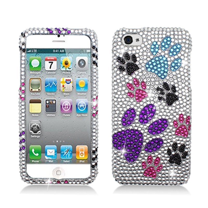 BasAcc Full Diamonds Color Paws Case for Apple iPhone 5 - Thumbnail 0