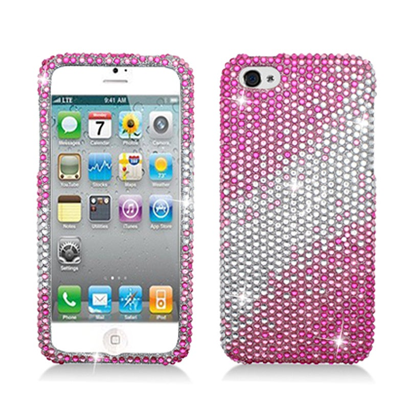 BasAcc Full Diamonds Pink Layer Case for Apple iPhone 5