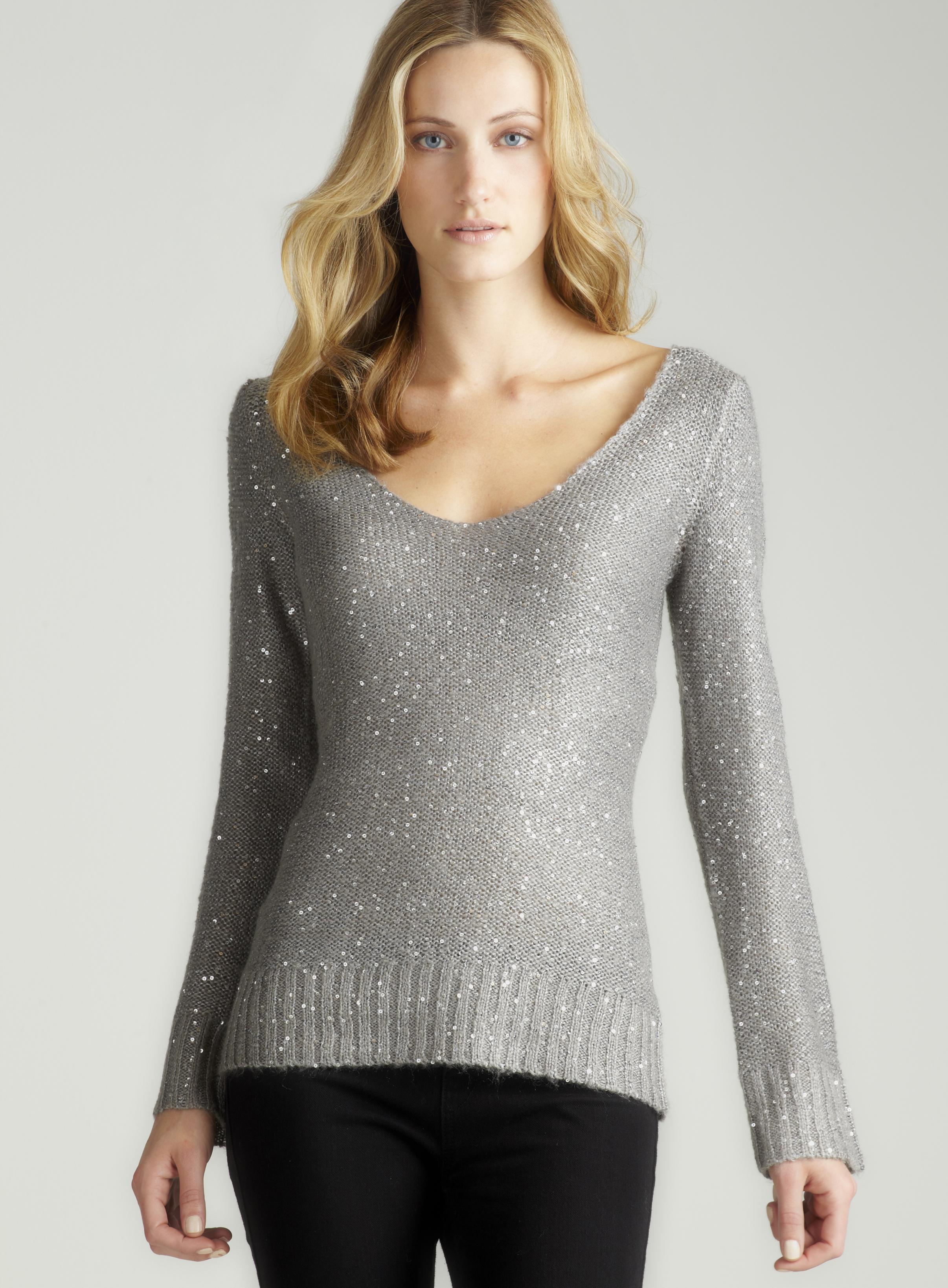 Max Studio Long Sleeved Sequin Sweater