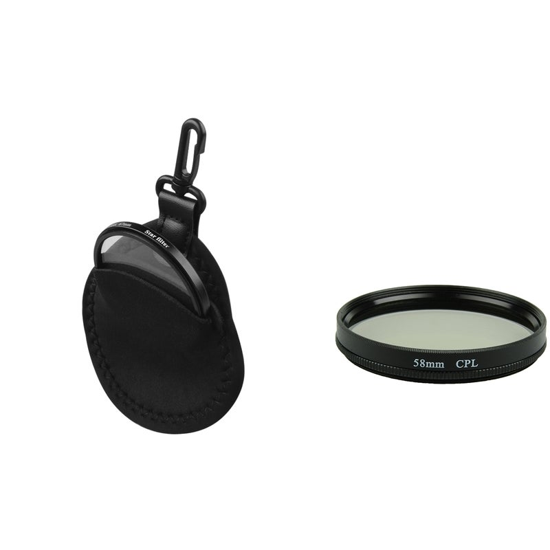 58-mm Circular Polarizing CPL) Lens Filter/ Protection Bag for Camera