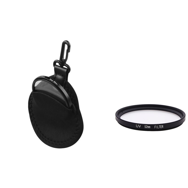 52-mm Ultra Violet Lens Filter/ Protection Bag for Camera