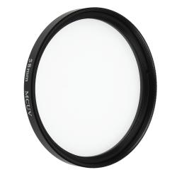 58-mm Multi-Coated Ultra Violet (MC-UV) Lens Filter/ Bag for Camera