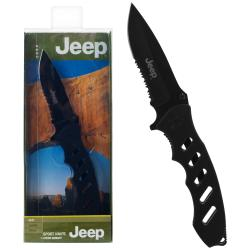 Jeep JP-1022R Folding Knife with 3.25-inch Partially Serrated Blade - Thumbnail 0