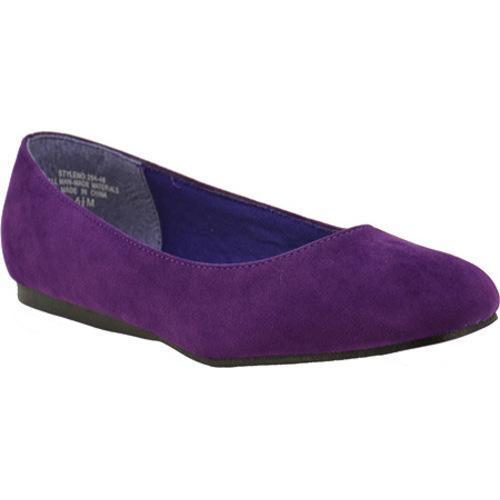 Women's Annie Capri Purple Velvet Suede