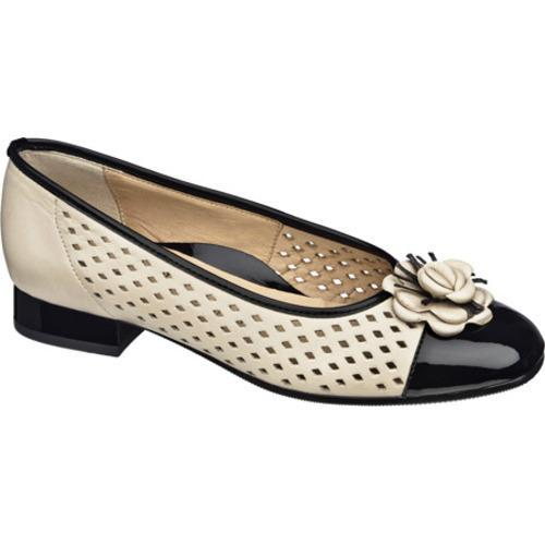 Women's Ara Blossom 33726 Bone Leather/Black Patent