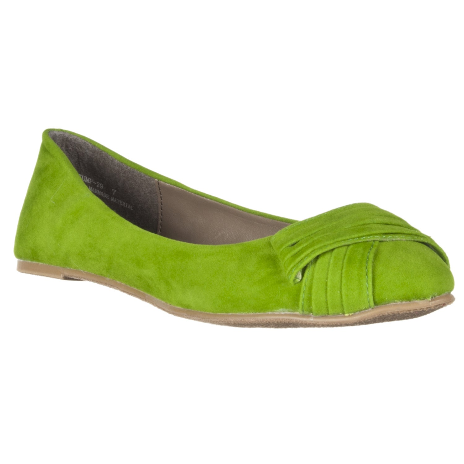 Riverberry Women's 'Jump' Ruched-detail Microsuede Flats - Thumbnail 0