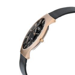 Skagen Men's Titanium Rosegold Case Mesh Band Watch
