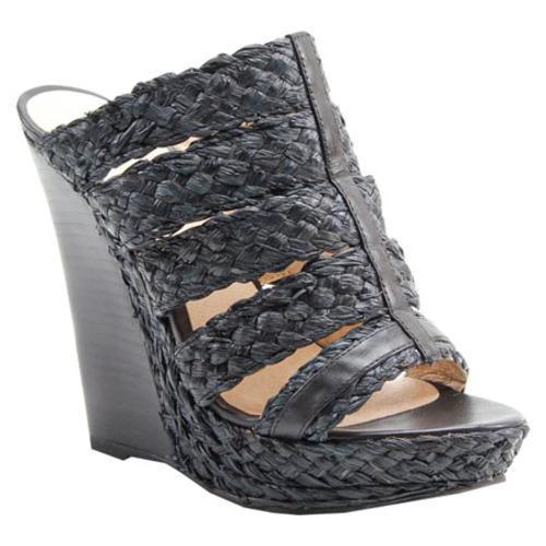Women's Bronx Sa Leena Black Raffia/Vachetta Leather