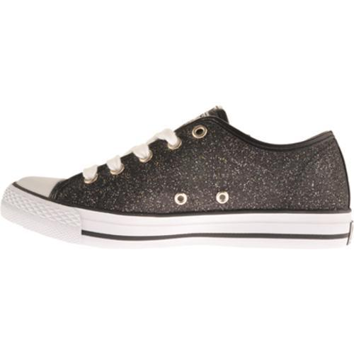 Women's Gotta Flurt Mystique Black Glitter Fabric