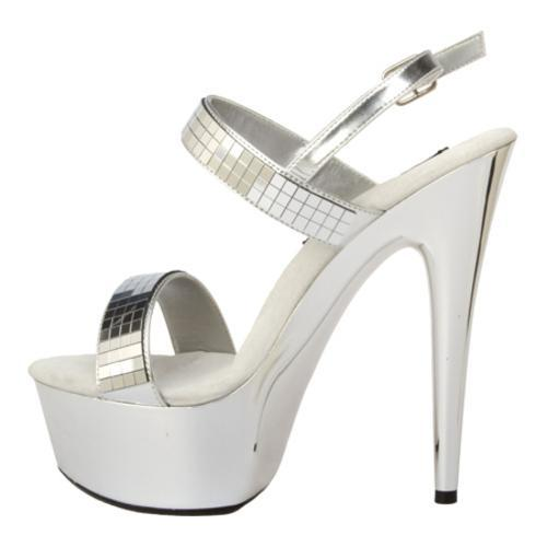 Women's Highest Heel Amber-111 Silver Metallic - Thumbnail 2