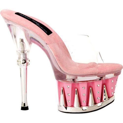 Women's Highest Heel Chantel-11 Clear/Pink Vinyl