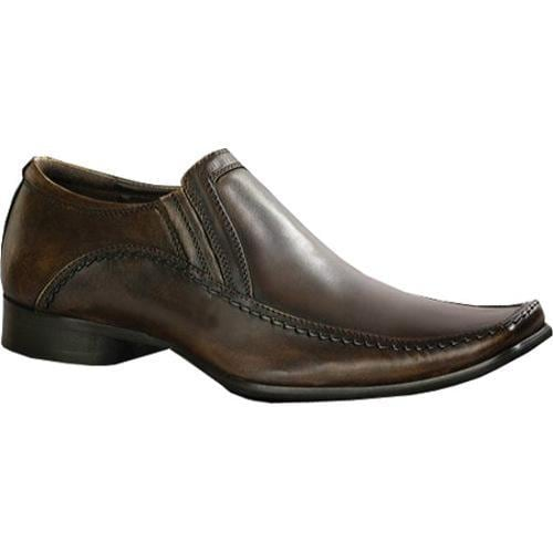Men's Kenneth Cole Reaction Key Note Brown Leather - Thumbnail 0