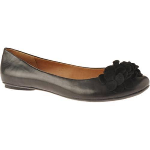 Womens Kenneth Cole Reaction Slip Sliding Black Leather/Nubuck