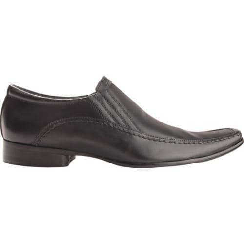 Men's Kenneth Cole Reaction Key Note Black Leather - Thumbnail 1