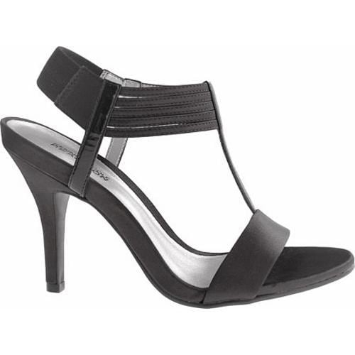 Women's Kenneth Cole Reaction Know Way Black Satin/Leather - Thumbnail 1