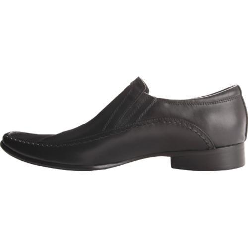 Men's Kenneth Cole Reaction Key Note Black Leather - Thumbnail 2