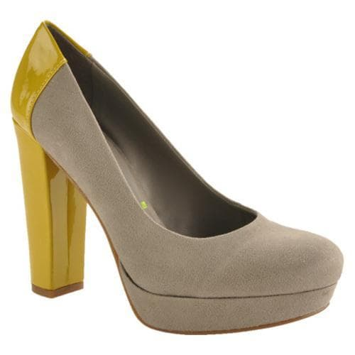 Women's Kensie Girl Harleen Slate/Limoncello Suede/Patent PU