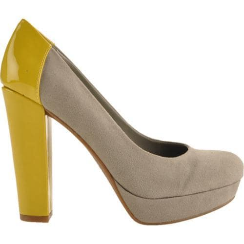 Women's Kensie Girl Harleen Slate/Limoncello Suede/Patent PU - Thumbnail 1