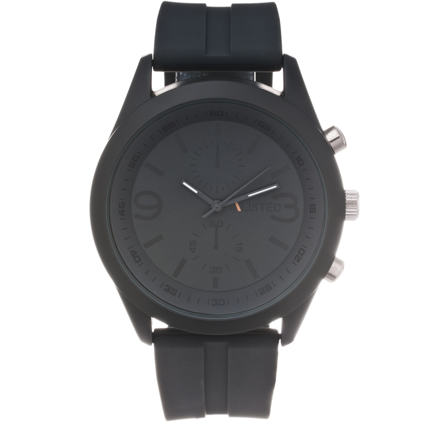 Unlisted by Kenneth Cole Men's Black Rubber Strap Analog Watch