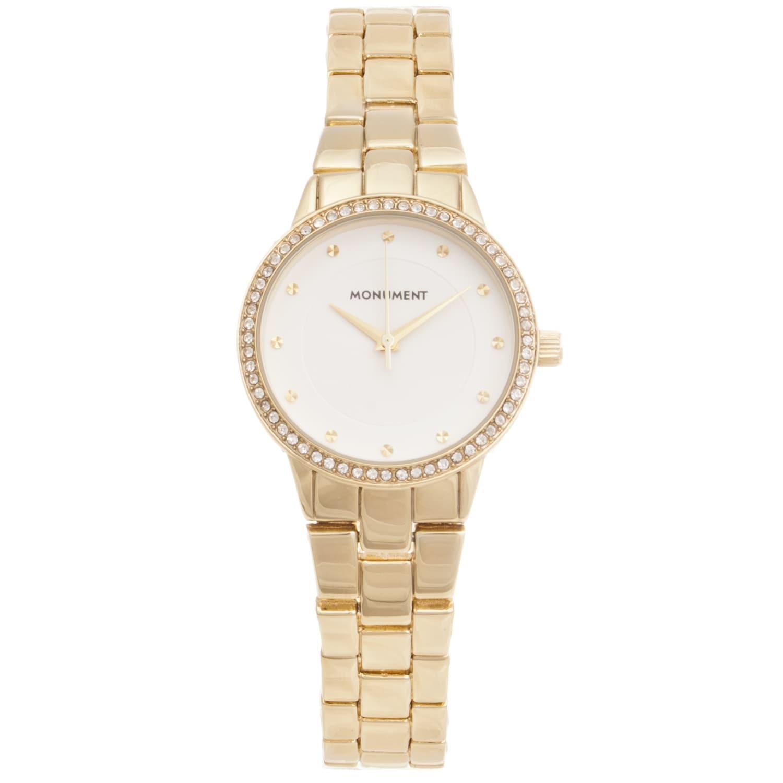 Monument Women's Goldtone Elegant Fashion Watch
