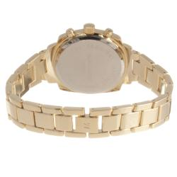 Monument Women's Crystal-detail Goldtone Bracelet Watch