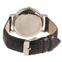 Monument Men's Roman Numeral Faux Croc Strap Watch