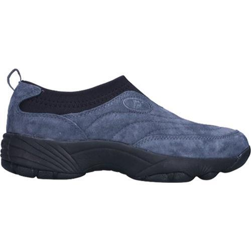 Men's Propet Wash & Wear Slip-On II Suede Denim Blue/Black