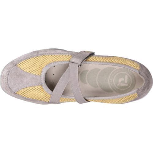 Women's Propet Zigzag Velvet Gray/Pale Yellow