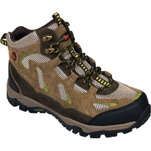 Men's Rugged Shark Approach Mid Taupe/Brown/Green Leather/Mesh