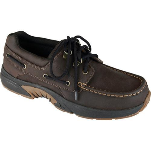Men's Rugged Shark Atlantic Dark Brown Crazy Horse Leather