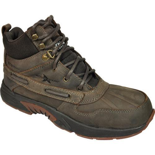 Men's Rugged Shark Portage High Verdant Brown Leather