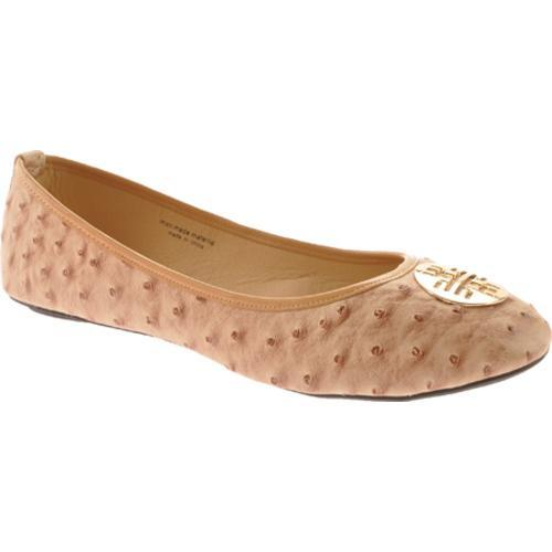 Women's Vecceli Italy BF-102 Beige Ostrich Compressed Leather