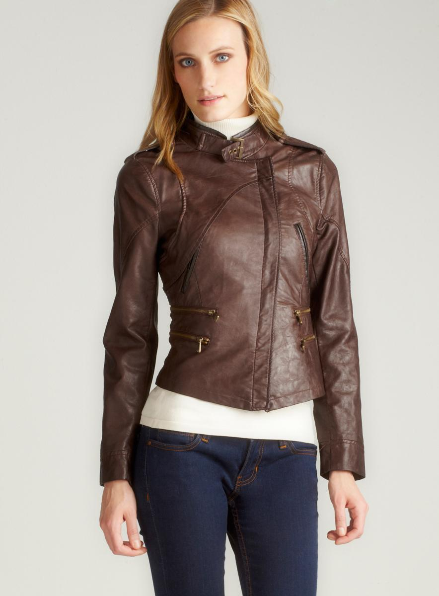 Steve Madden Distressed Faux Leather Jacket