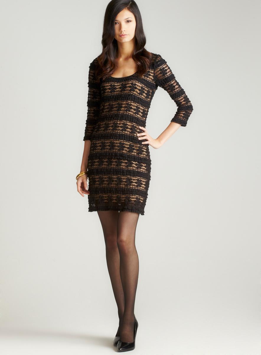 Studio M 3/4 Sleeve Lace Dress