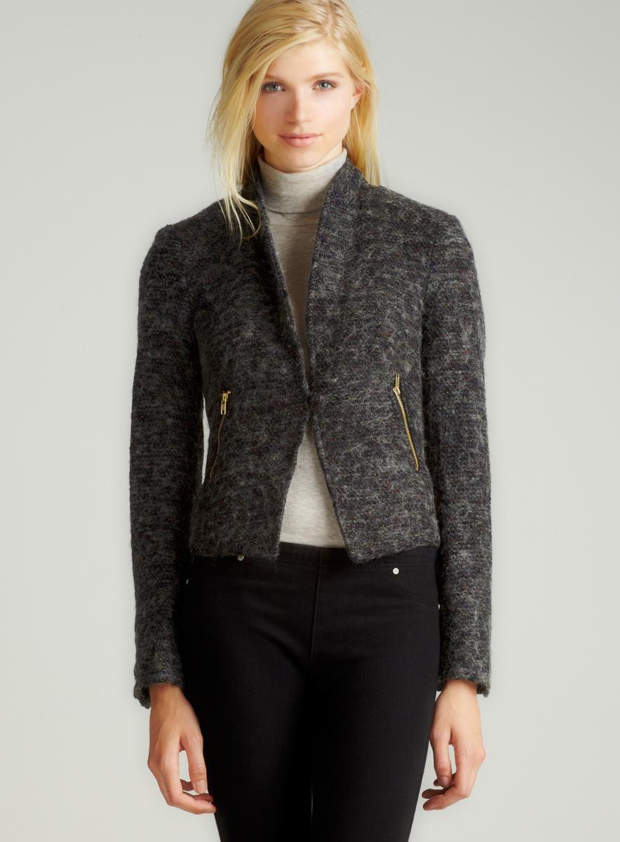 Wdny Textured Shawl Collar Jacket