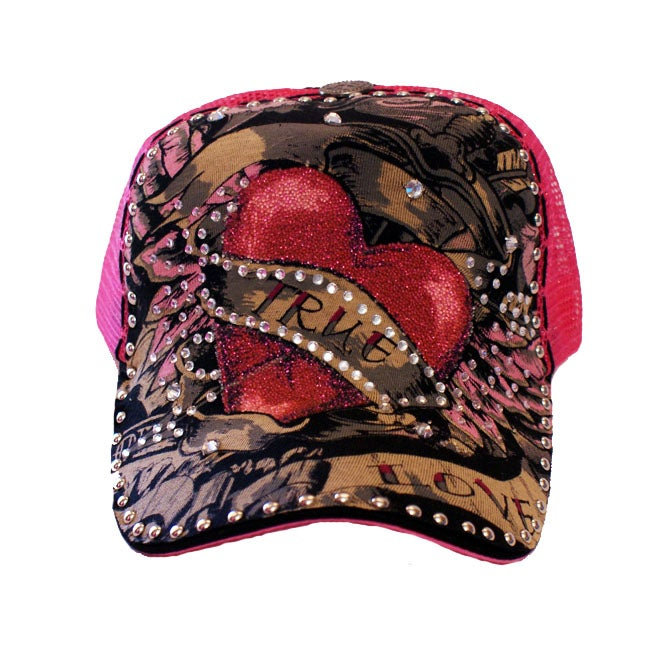 Stephanie B. Women's 'True Love' Pink Trucker Hat