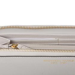 Michael Kors Light Grey Leather Continental Wallet - Thumbnail 2