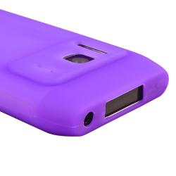 Purple Silicone Case/ Screen Protector for Nokia N8