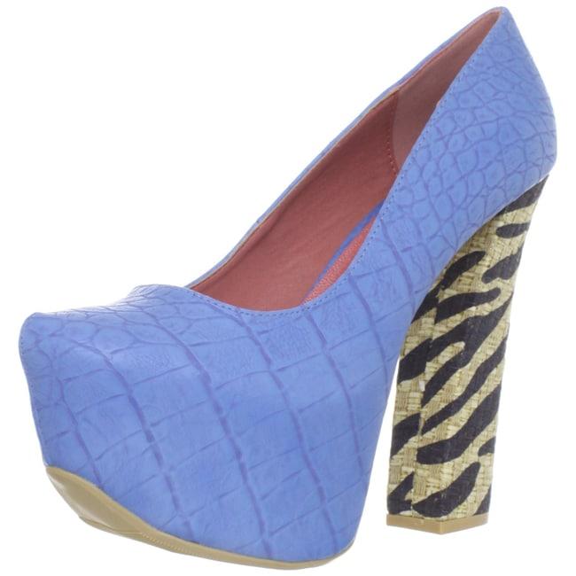 Fahrenheit Women's 'Anne-35' Blue Platforms